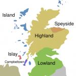 אזורי ייצור הסקוטש בסקוטלנד